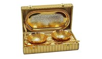 Party Gifts Silver Gold Plated Bowl Set With Beautiful Box