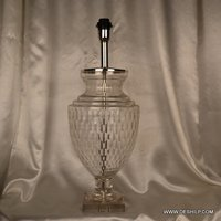 CRYSTAL CUTTING GLASS TABLE LAMP