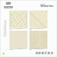 Plain Ivory Vitrified Tiles