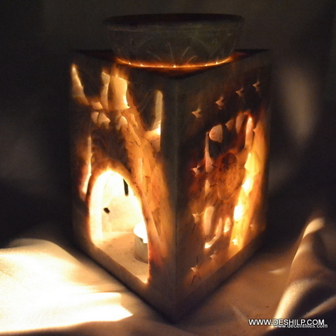 ANTIQUE GLASS CANDLE AROMA LIGHTS
