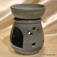 DESIGNER GLASS AROMA CANDLE OIL BURNER