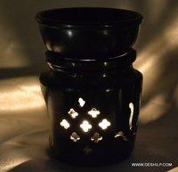 BLACK COLOR AROMA CANDLE OIL BURNER