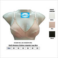 Soft Hosiery Cotton Regular Cup Bra