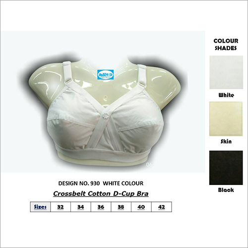 Crossbelt Cotton D-Cup Bra