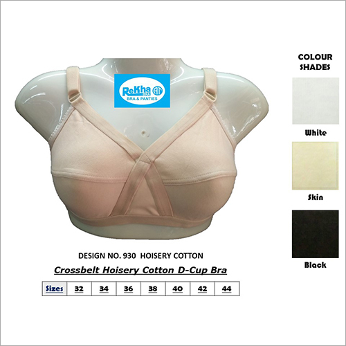 Crossbelt Hoisery Cotton D-Cup Bra
