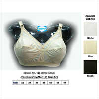 Designer Cotton D-Cup Bra