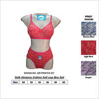 Printed Bra Panty Set