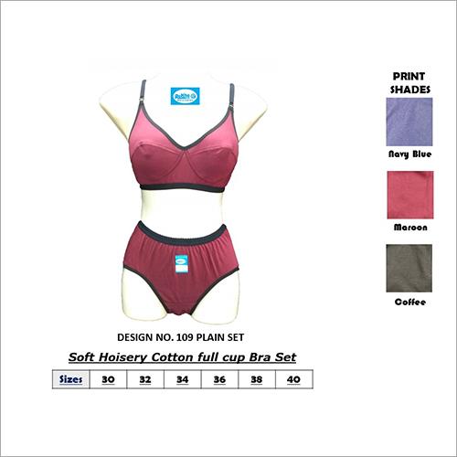 Plain Bra Panty Set