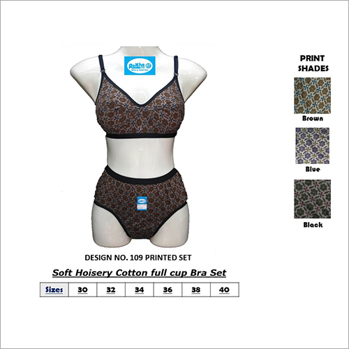 Soft Hosiery Cotton Full Cup Bra Set