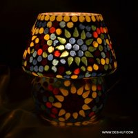 GLASS MOSAIC SMALL TABLE LAMP