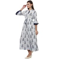 Rayon printed long dress