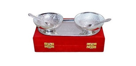Silver Plated Brass Bowl Set of 5 Pcs