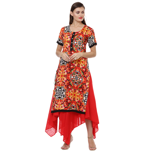 Trendy designer kurta with skirt