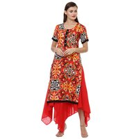 Trendy designer kurta with skirt