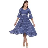 Cotton Printed Short Dress