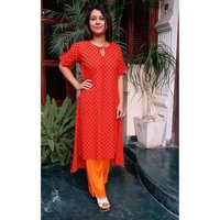 Blockprint Cotton Designer Kurti