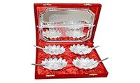 Silver Plated Brass Bowl Set Of 9 Pcs