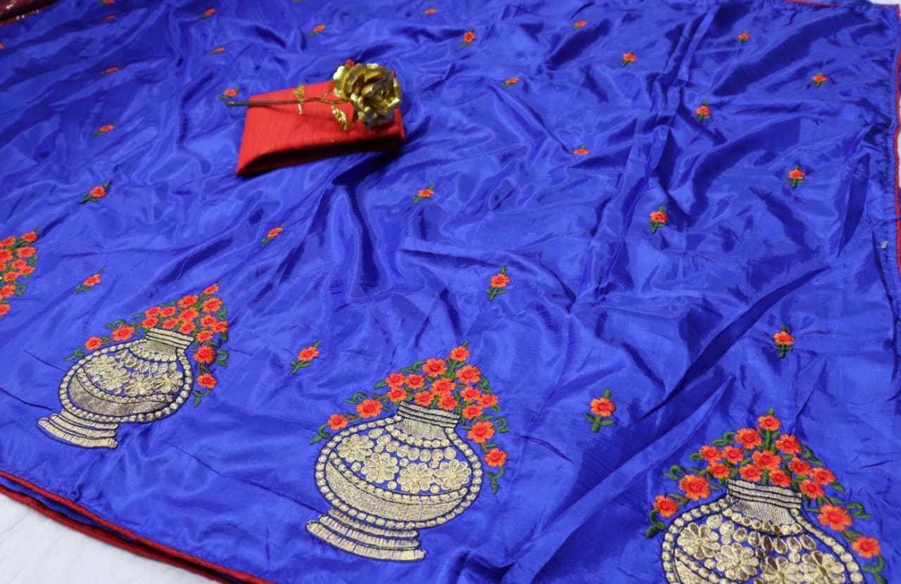 Designer Embroidered Silk Saree