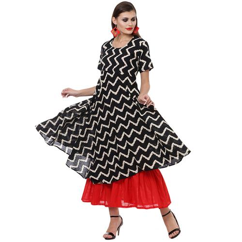 Cotton double layer maxi dress