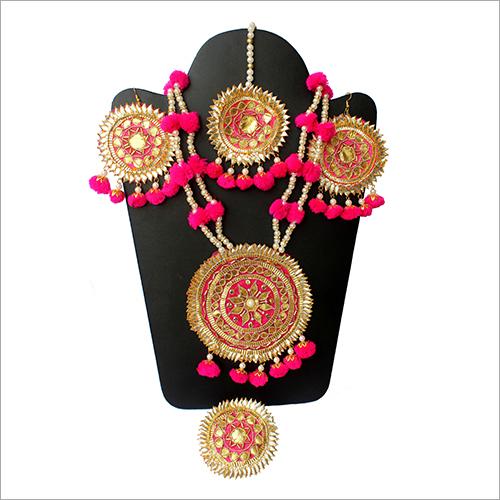 Gota Patti Designer Necklace Set