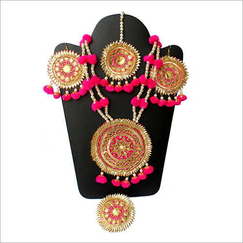Gota Patti Designer Necklace Set
