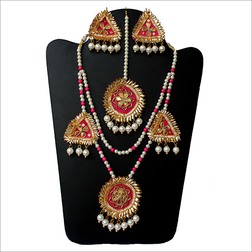 Handmade Gota Patti Necklace Set