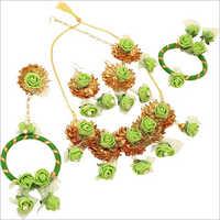 Antique  Flower Necklace Set