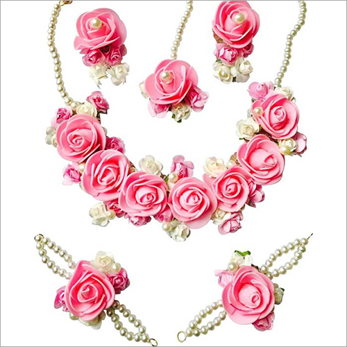 Handmade Artificial Flower Necklace Set