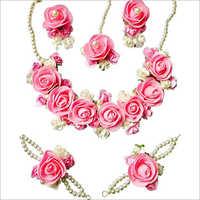 Handmade Artificial Flower Necklace Set