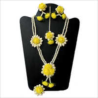 Artificial Flower Modern Necklace Set