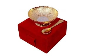Silver Gold Plated Brass Bowl