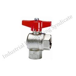 Right angle full way ball valve