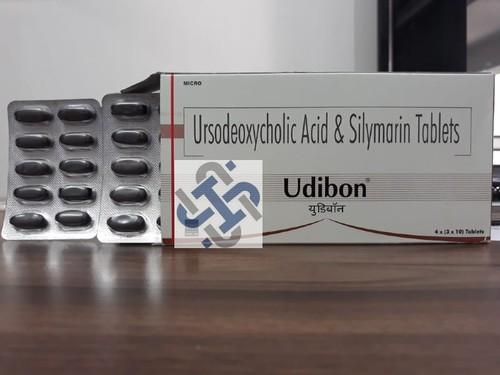 Udibon Silymarin 140mg  Ursodeoxycholic Acid/Ursodiol 300mg Tablet