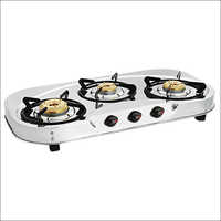 Three Burner Round SS gas Stove