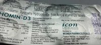 mecobalamin pyridoxine hydrocloride folic acid  vitamin d3 tablets