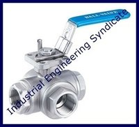 SS 3 way Ball Valve