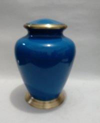 Blue Brass Urns