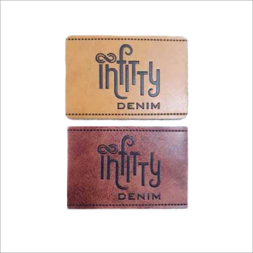 Customized PU Embossed Jeans Label