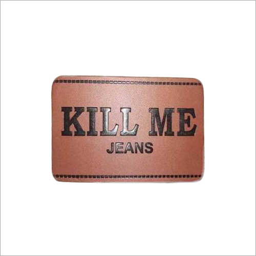 Denim PU Emboss Jeans Label