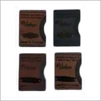 Cutomized Metal Tag PU Jeans Label