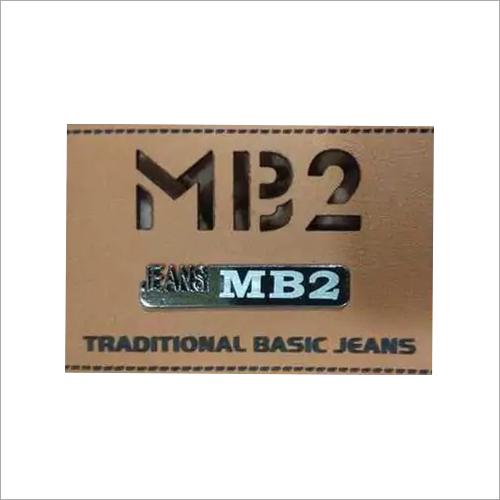 Laser Cut Jeans Label