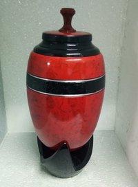Infinity Red Raku Cremation Urn with pedestal