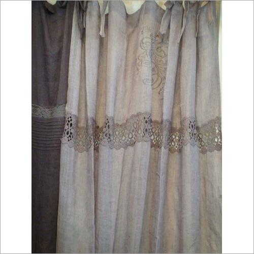 cutwork linen curtain