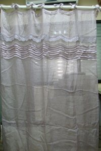 cutwork linen curtain