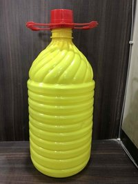 5Litre  Yellow Plastic Pet Bottle Lotus