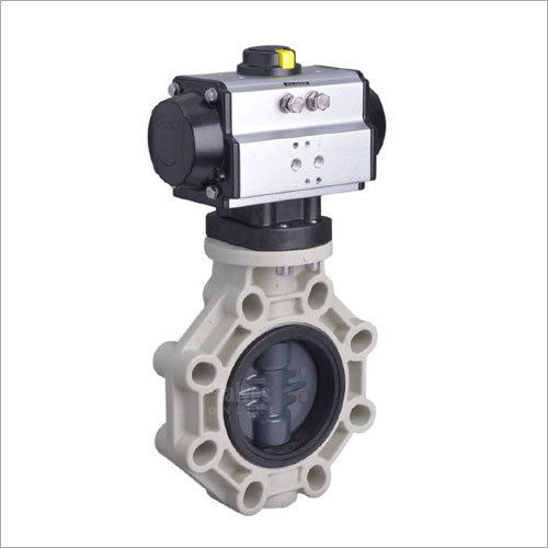 Pneumatic Actuated PVC Butterfly Valve