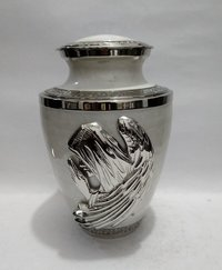 Mother of Pearl Brass Funeral Cremation Urn
