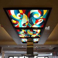 CEILING DESIGNER COLOURED GLASS