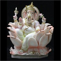 Marble Lotus Ganesha