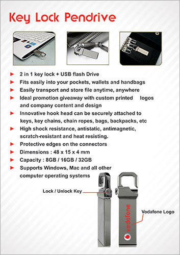 Key Lock Pendrive